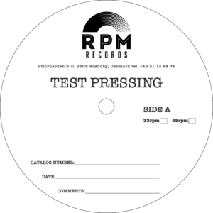 test pressings